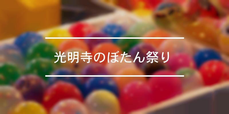 光明寺のぼたん祭り  2021年 [祭の日]
