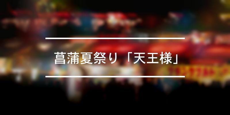 菖蒲夏祭り「天王様」 2021年 [祭の日]
