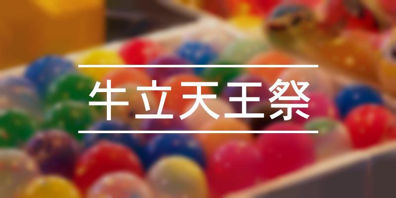 牛立天王祭 2021年 [祭の日]